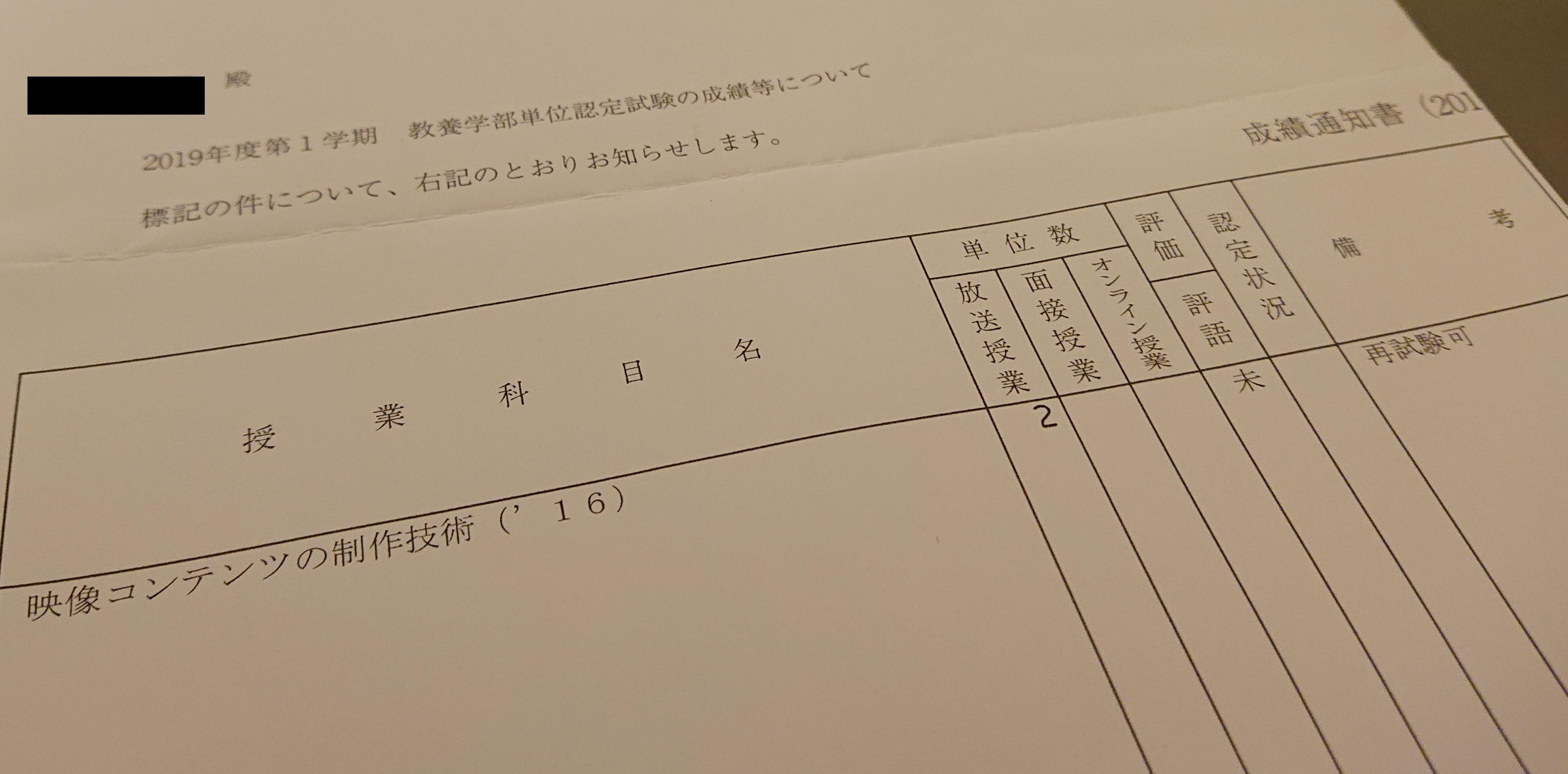 試験 単位 認定 放送 大学